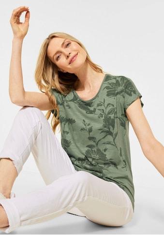 Cecil Rundhalsshirt, mit floralem Druckmuster kaufen