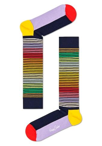 Happy Socks Kniestrümpfe »Half Stripe«, in knalligen Farben kaufen