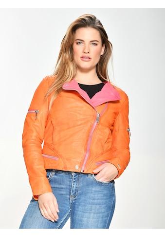 Maze Lederjacke zweifarbig kaufen
