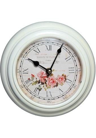 Ambiente Haus Wanduhr »Rosen Wanduhr aus Metall 20cm« kaufen