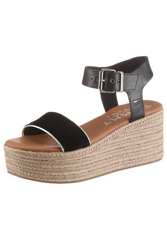 Tommy Jeans Sandalette »ESSENTIAL FLATFORM SANDAL«, mit dezenter Logostickerei kaufen