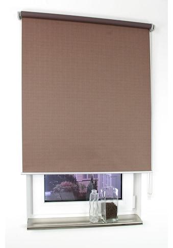 Liedeco Seitenzugrollo »Struktur«, verdunkelnd, mit Bohren, Uni, im Festmass kaufen