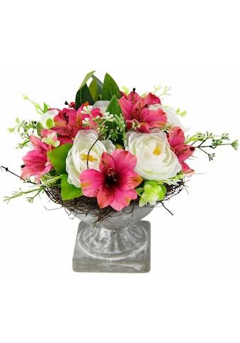 Kunstpflanze »Gesteck Ranunkel in Pokal« kaufen