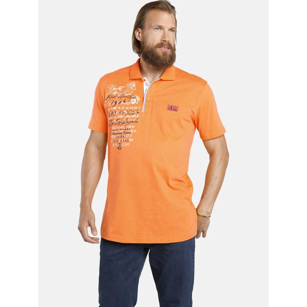 Jan Vanderstorm Poloshirt »JANO«, weiche Jersey-Qualität