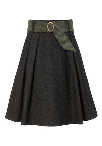 H. Moser Trachtenrock, Damen, mit kontrastfarbigem Stoffgürtel und Metallschliesse kaufen