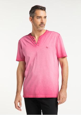 Pioneer Authentic Jeans T - Shirt Henley Übergrösse kaufen