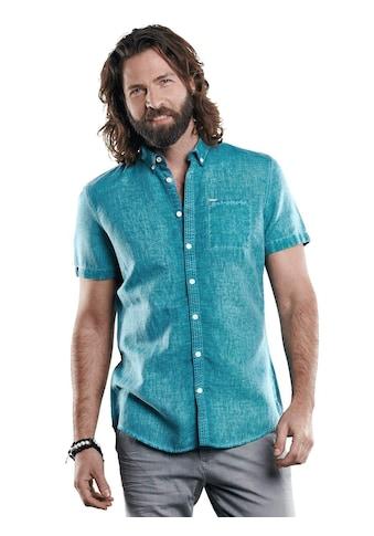 emilio adani Sommerliches Halb-Leinen Hemd mit dezenten Kontrastdetails kaufen