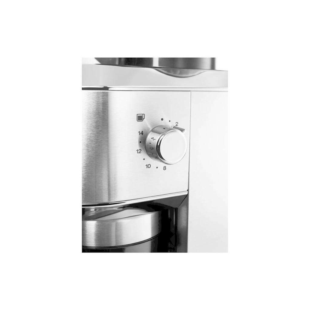 De'Longhi Kaffeemühle »KG 520.M«, 110 W, Kegelmahlwerk, 350 g Bohnenbehälter, Speziellen Legierung und dadurch deutlich weniger Hitze - besseres Kaffeearoma