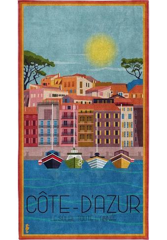 Seahorse Strandtuch »Riviéra«, (1 St.), mit Côte d'Azur Aufdruck kaufen