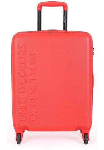United Colors of Benetton Hartschalen-Trolley »UCB, 77 cm, red«, 4 Rollen kaufen