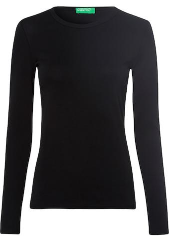 United Colors of Benetton Langarmshirt, im Basic-Look kaufen
