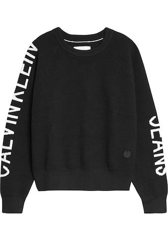 Calvin Klein Jeans Strickpullover »SLEEVES LOGO INTARSIA« kaufen