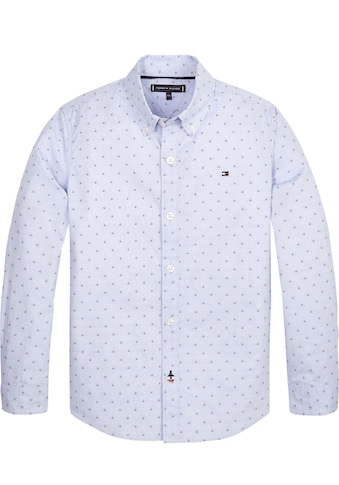 TOMMY HILFIGER Langarmhemd »GLOBAL DETAIL DOT DOBBY SHIRT« kaufen