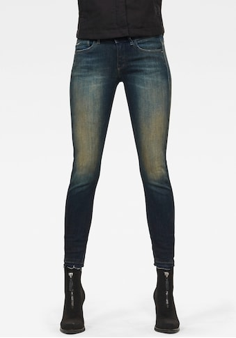 G-Star RAW Skinny-fit-Jeans »Lynn Mid Skinny rp Ankle«, mit leicht ausgefranster Kante... kaufen