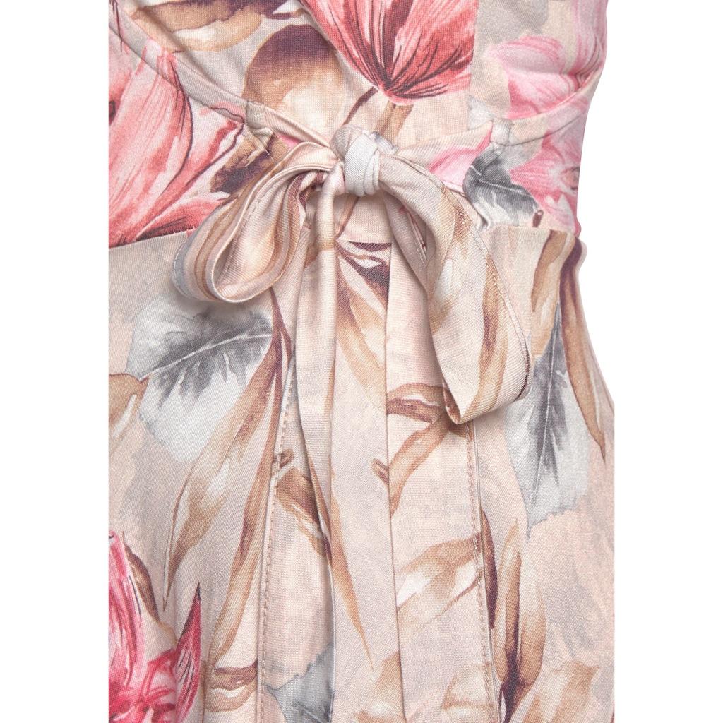 s.Oliver Beachwear Druckkleid, mit Bindeschleife seitlich