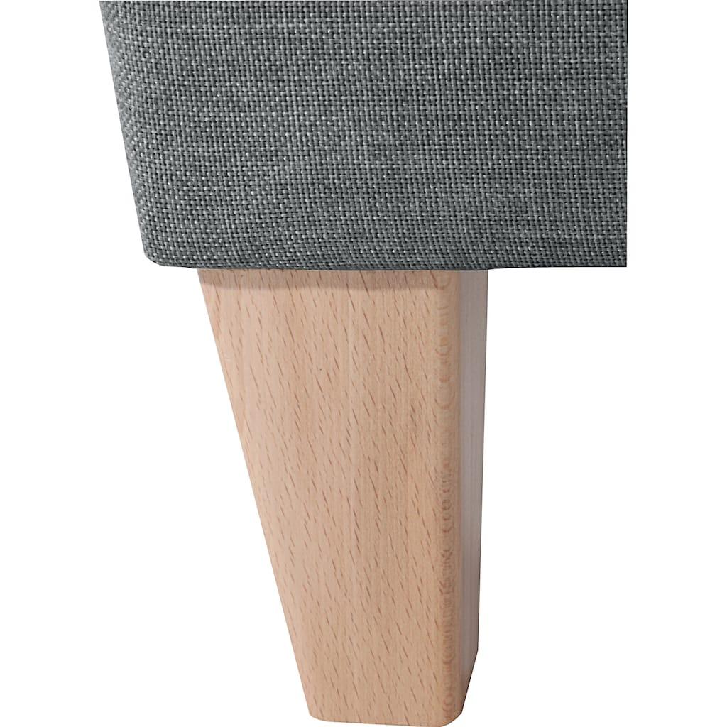 Max Winzer® Cocktailsessel »Luisa«, in runder Form, mit Holzfüssen