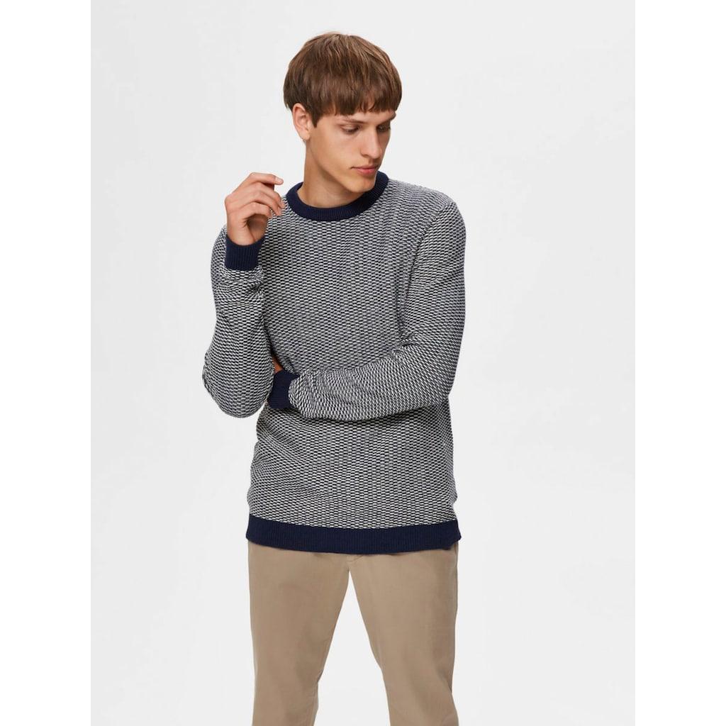 SELECTED HOMME Rundhalspullover »AIDEN CREW NECK«