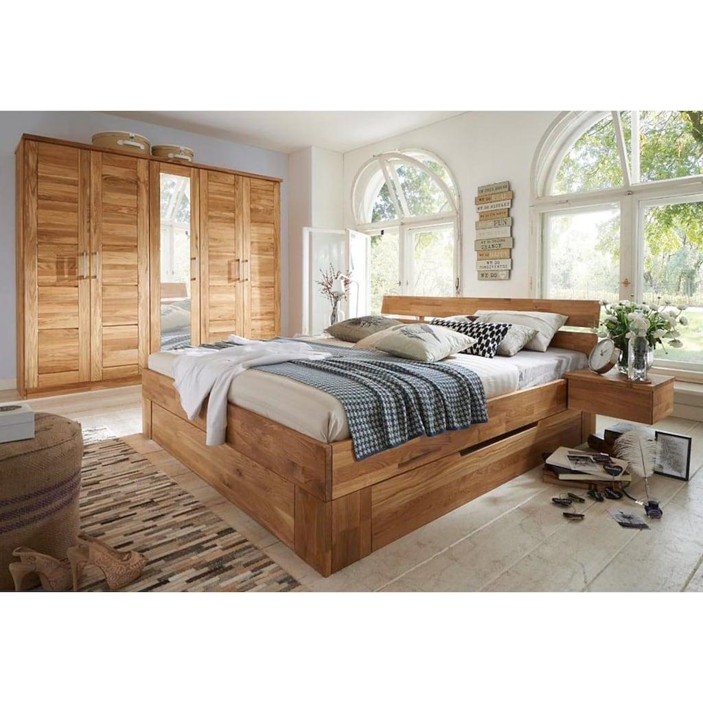 Premium collection by Home affaire Bettschubkasten »Tommy«, aus schönem massivem Wildeichenholz, in unterschiedlichen Breiten, passend für das Tommy Bett
