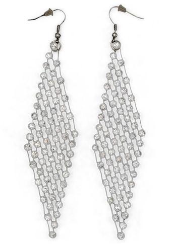 J.Jayz Paar Ohrhaken »extra lang, glamourös«, mit Glassteinen kaufen