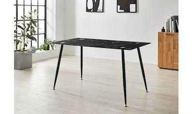 Homexperts Glastisch »Romeo«, Breite 140 cm, in Marmor-Optik kaufen
