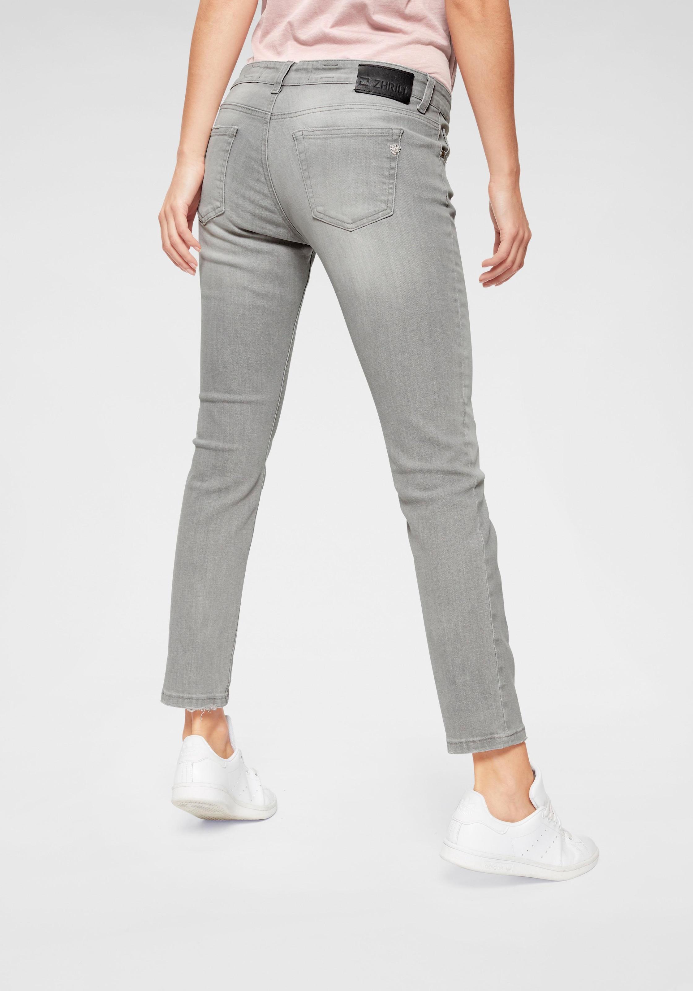 Zhrill Charly Denim Damen Jeans Grey