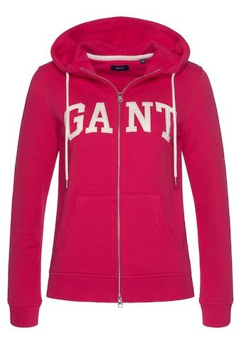 Gant Kapuzensweatjacke, mit Front-Logo kaufen