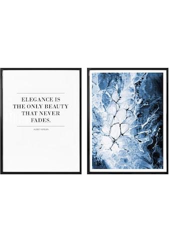 Poster »Blaue Eleganz« (Set) kaufen