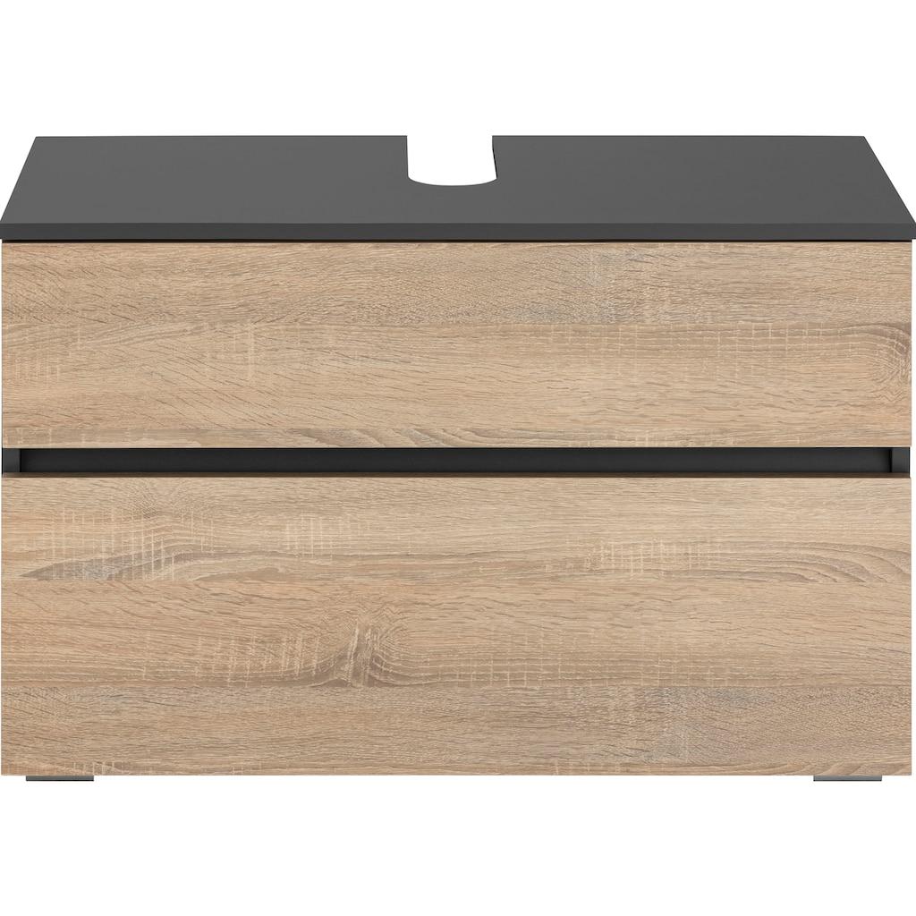 Home affaire Waschbeckenunterschrank »Wisla«, Breite 80 cm, oben Klappe & unten grosser Auszug