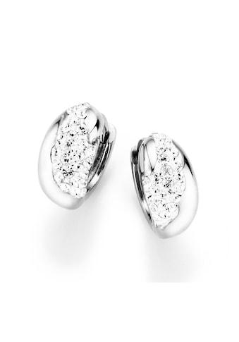 Firetti Paar Creolen »gewölbte Form«, mit Kristallsteinen kaufen