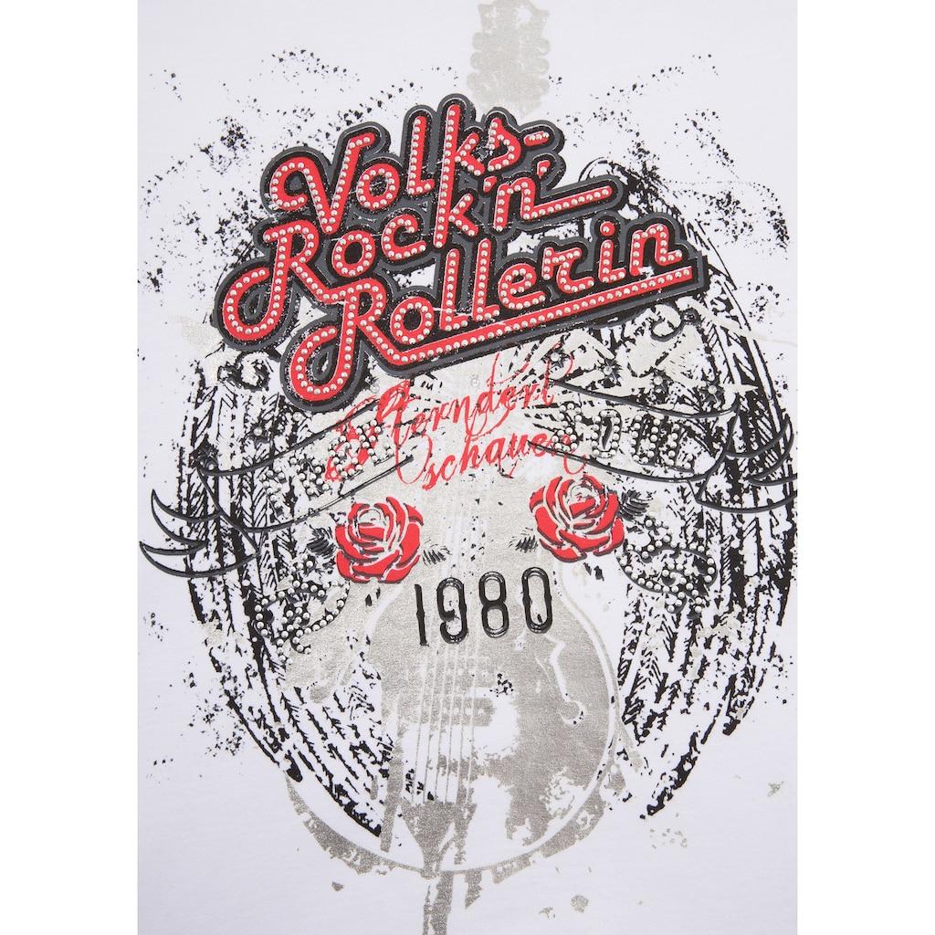 Andreas Gabalier Kollektion Trachtenshirt, Damen mit Glitzersteinchen