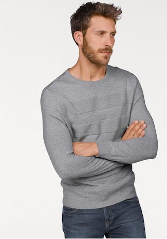 Bruno Banani Rundhalspullover, in Streifenoptik kaufen