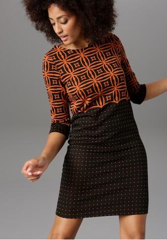 Aniston SELECTED Jerseykleid, im modernen Muster- und Punkte-Design kaufen