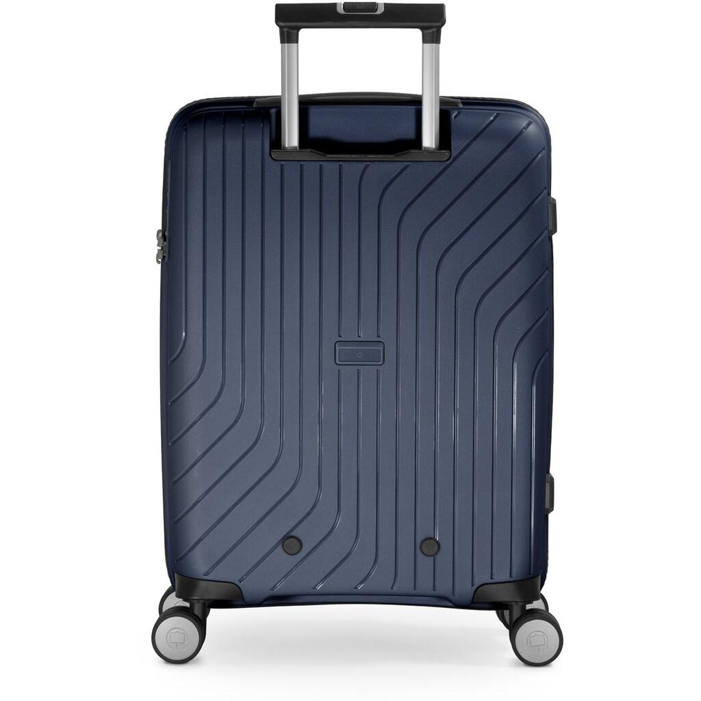 Hauptstadtkoffer Hartschalen-Trolley »TXL, dunkelblau, 55 cm«, 4 Rollen