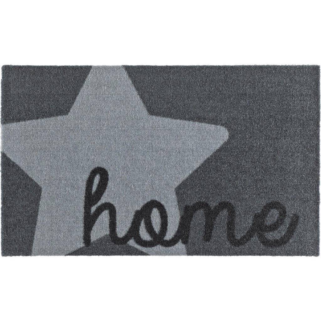 Zala Living Fussmatte »Star Home«, rechteckig, 7 mm Höhe, Schmutzfangmatte, mit Spruch, rutschhemmend beschichtet, waschbar