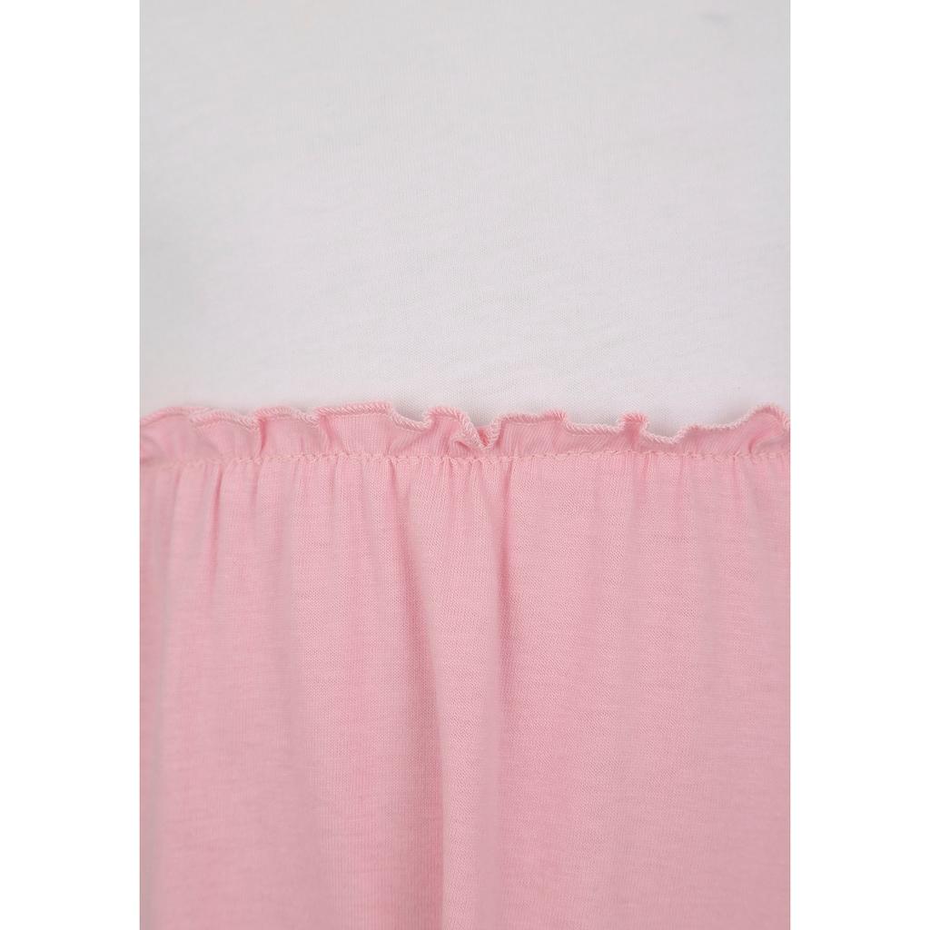 KIDSWORLD Volantkleid, mit Colorblock-Design