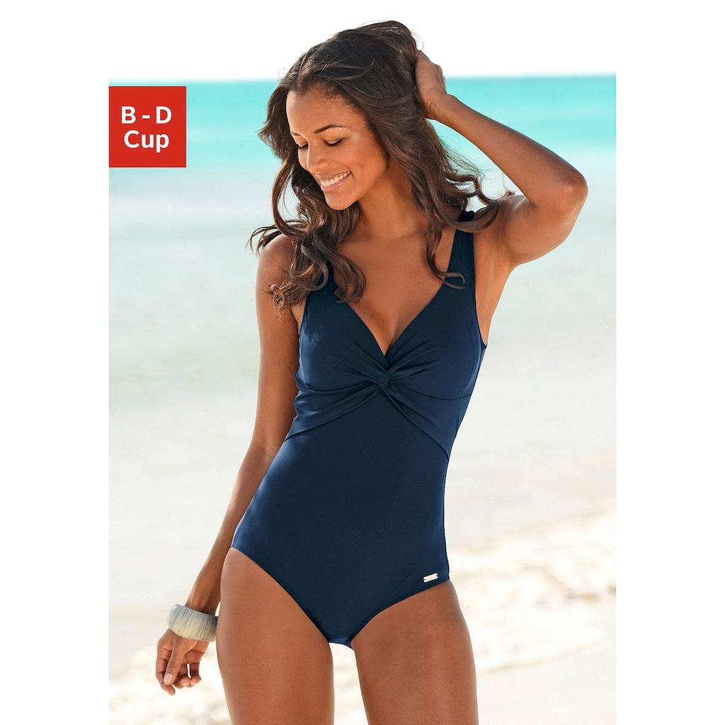 LASCANA Badeanzug, mit Knoten-Optik am Cup
