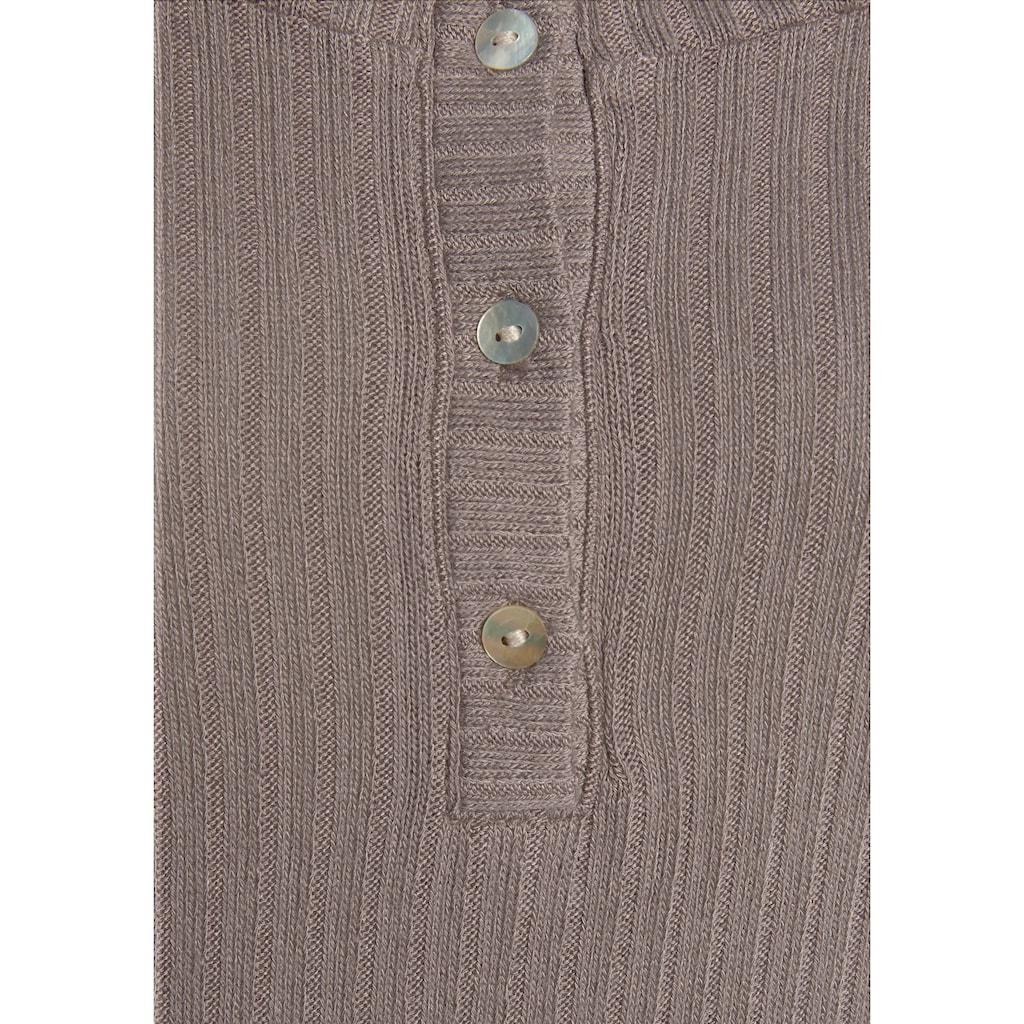 Vivance Langarmshirt, aus modischer Ripp-Qualität