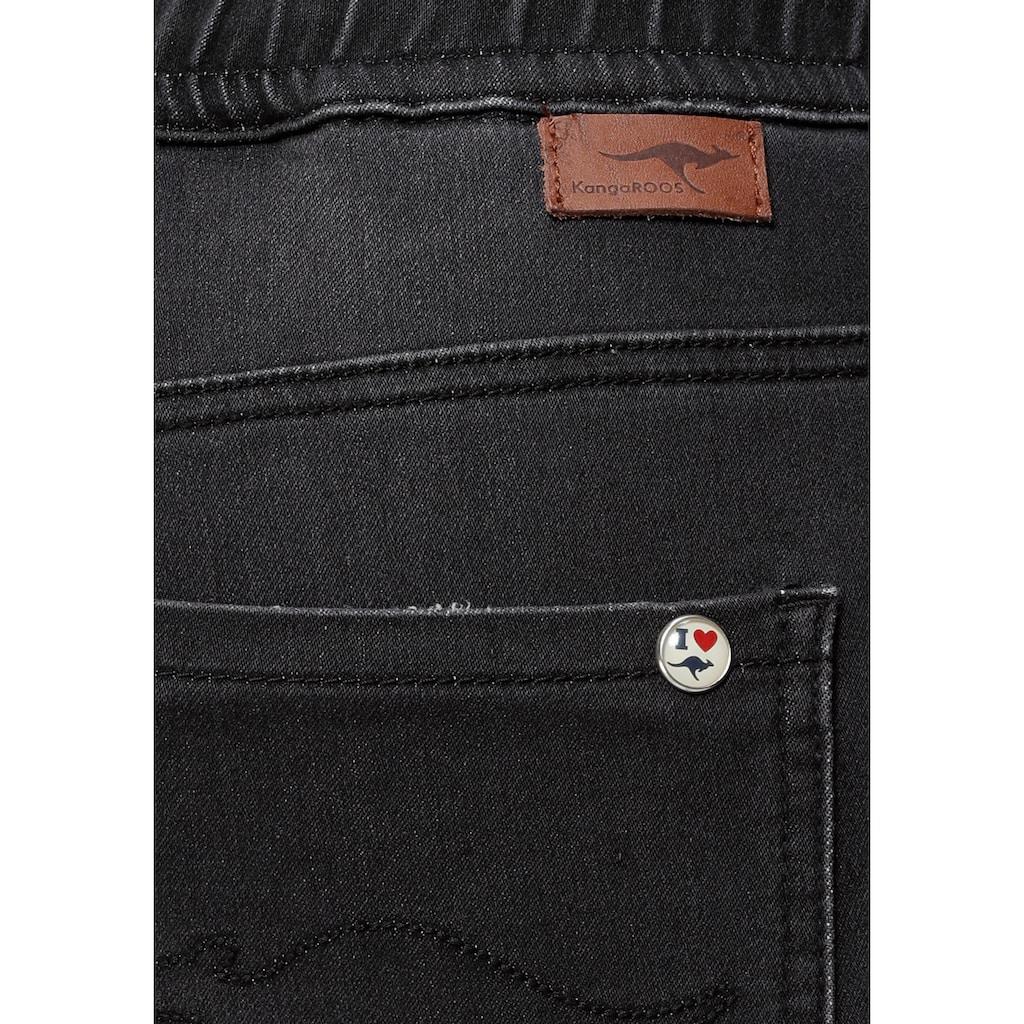 KangaROOS Jogg Pants, in Denim-Optik mit elastischem Bündchen