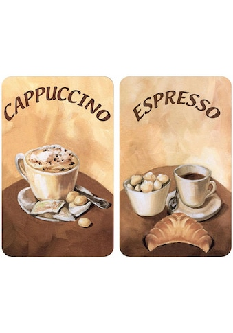 WENKO Herd-Abdeckplatte »Kaffee«, (Set, 2 tlg.), kratzfest kaufen