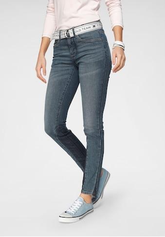 TOM TAILOR Polo Team Slim - fit - Jeans (Set, 2 tlg., mit abnehmbarem Gürtel) kaufen
