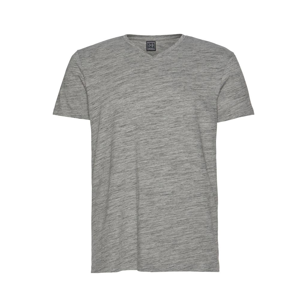 John Devin T-Shirt, mit Melange-Optik