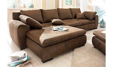 Home affaire Ecksofa »Cara Mia«, wahlweise mit Bettfunktion, in 2 Bezugsqualitäten kaufen
