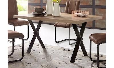 Homexperts Esstisch »COLT«, Breite 140 oder 160 cm, Eicheoptik, X-Gestell kaufen