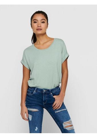 Only T-Shirt »ONLMOSTER«, mit Aufschlag am Arm kaufen