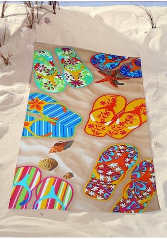 Strandtuch »Flip Flop«, (1 St.) kaufen