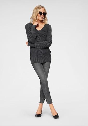 Arizona Skinny - fit - Jeans »seitlich mit Glitzerstreifen« kaufen