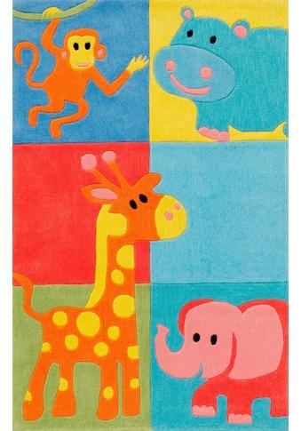 Böing Carpet Kinderteppich »Kids 1365«, rechteckig, 10 mm Höhe, Konturenschnitt kaufen