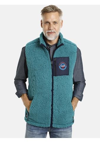 Jan Vanderstorm Fleeceweste »CANUTE«, aus weichem Sherpa Fleece kaufen
