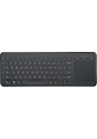 Microsoft Tastatur mit Touchpad »All-in-One Media Keyboard«, (Touchpad-Multimedia-Tasten) kaufen