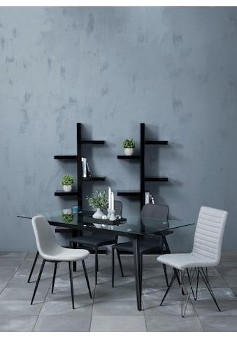 andas Stuhl »Willy«, 4er-Satz aus schönem Webstoff, in unterschiedlichen Farbvarianten mit verschiedenen Stuhlbeinen, Sitzhöhe kaufen